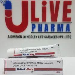 Diclofenac Diethylamine, Methyl Salicylate, linseed Oil & Menthol Gel, Packaging Size: 30 Gm, Packaging Type: Carton