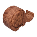 Zydeco E-318 Bluetooth Speaker ( Wooden) Elephant Style