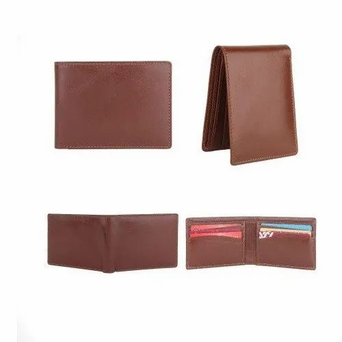 Brown A-102 Mens PU Leather Wallet