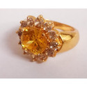 Brass Gemstones Ring