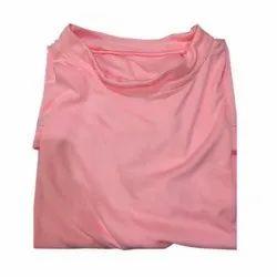 Cotton Plain Men's Pink T-Shirt