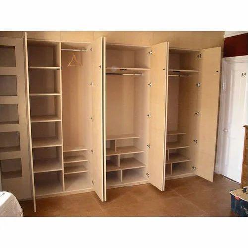 brown wooden bedroom cupboard, rs 600 /square feet, sabari wood work