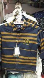 Cotton Regular Fit Boys Full Sleeve Shirts