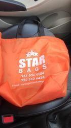 Orange Taffeta Bag