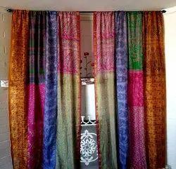 Saree Patchwork Boho Curtains for Home