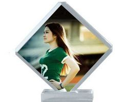 Diagonal Shape Acrylic Photo Frame