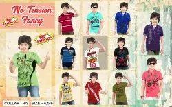 0-15 Year Boy's Kid's T-Shirts, Quantity Per Pack: 12 Piece