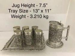 Metal Antique Jug Set