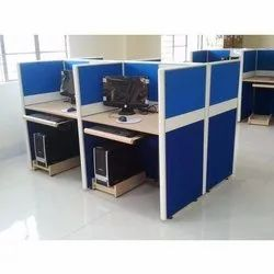 Particle Board Aluminium Straight Office Workstation