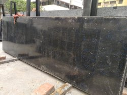 Black Galaxy Granite Slabs, Thickness: 15-20 mm