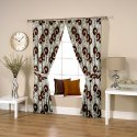 Ravi Exports Cotton Calligraphic Coffee Curtain