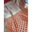 Party Wear Uppada Silk Saree, 6.3 m (with blouse piece), 0.8 M