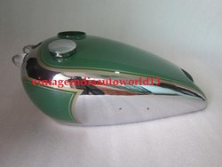 New Bsa C10 C11 Green Painted Chromed Gas Petrol Tank With Fuel Cap
