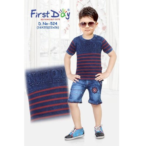 22x26 Also Available In 16x20 Printed Kids Boys Casual Wear Suit, Rs 409  /piece   ID: 20685899188