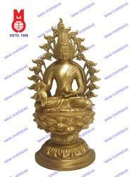 Lord Buddha Sitting On Lotus W / Ring