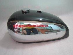 New Bsa Gold Star A7 A10 Super Rocket Chrome And Black Painted Gas Fuel Petrol Tank (Plain Tank Side