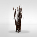 Mantra Brown Bronze Twist Candle Stand