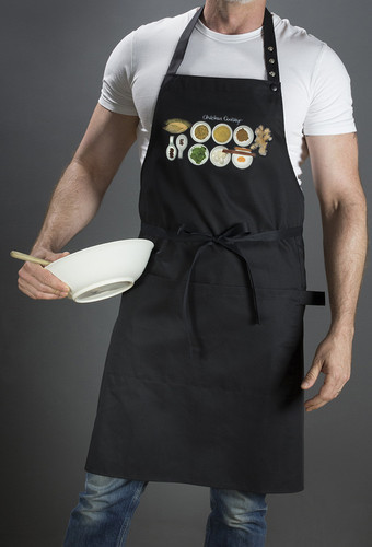 Cotton Printed Chefs Aprons, Size: 60 x 900 and 70 x 90 cm