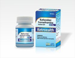 Ketorolac Tromethamine 10 Mg Tablet USP, 100 Tablet