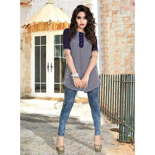 bc9553c03 Georgette 3/4th Sleeves Girls Casual Tops, Rs 485 /piece | ID ...