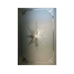 Transparent Printed Door Glass, Thickness: 2 - 20 Mm