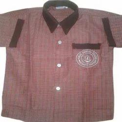 Cotton Kids Collar Neck School Shirt, Packaging Type: Packet