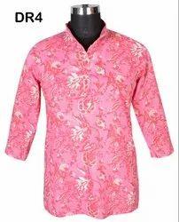 Cotton Hand Block Printed Women's Short Top Kurti DR4