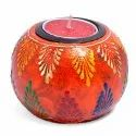 Wooden Embossed Candle T-Light Holder Diwali Gift Return Gifts Home Decorative Items