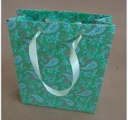 Glitter Print handmade paper bag