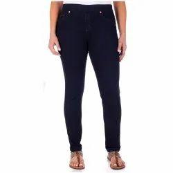 Plain Black Ladies Designer Denim Jeans, Waist Size: Available In 28 To 40