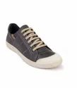 Grey Color Synthetic Leather Men's Sneaker