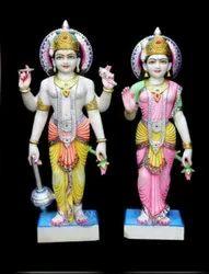 Lakshmi Narayan Marble Statue