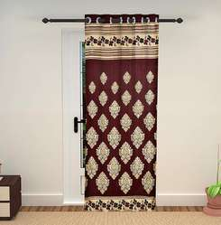 Polyester And Jute Mix Curtain
