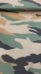 Cotton Lycra Army Fabric