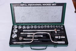 1/2  Drive 24 Pcs BI-Hexagon Socket Set 1224-OI