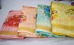 Linen Print Surat Saree