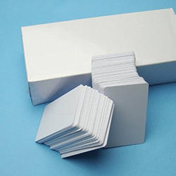 White LC Inkjet PVC Cards, Size: 54 x 86mm
