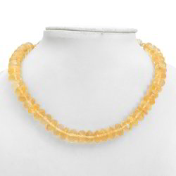 Faceted Citrine Stones Necklace 217