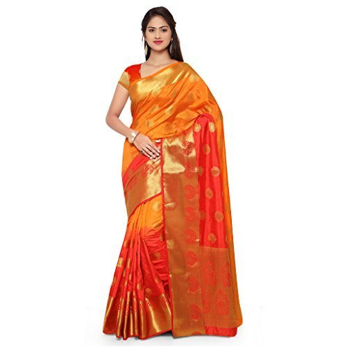 Pure Silk Party Wear Kanchipuram Saree, With Blouse Piece