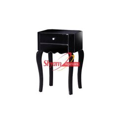 Wedding Designer Black Bedside Table