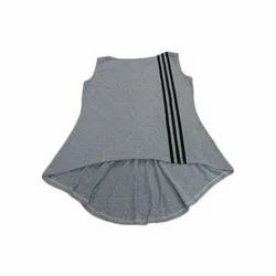 Grey Ladies Casual Sleeveless Top