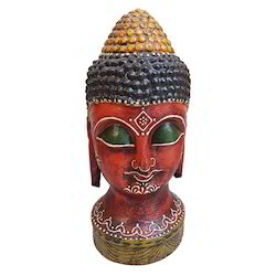 Hand Made Buddha Head With Painting Work