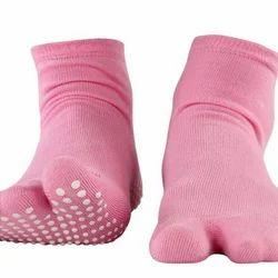 Pedder Johnson Ladies Split Toe Pink Nofall Sock