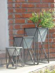 Galvanized Planter With Stand Click To Zoom