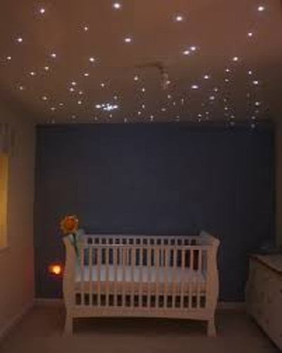 LED Fiber Optic Starry Sky Ceiling Lights In Kids Room