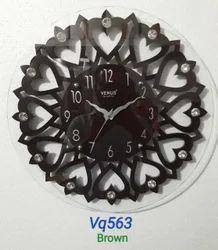 Venus Quartz Vq563 Brown Wooden Wall Clock
