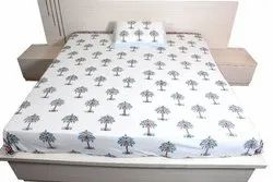 Block Printed Bedsheet With 2 Pillow Covers