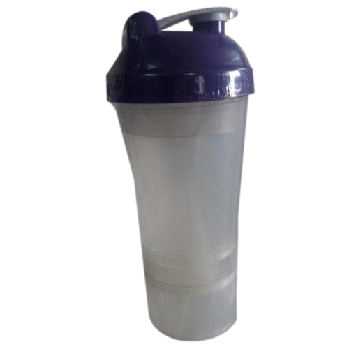 Grey And Blue Sports Fit Gym Shaker, Capacity: Up To 700 Ml