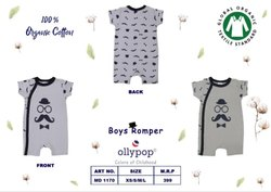 Casual Wear Printed Boys Cotton Rompers, Size: XS/S/M/L