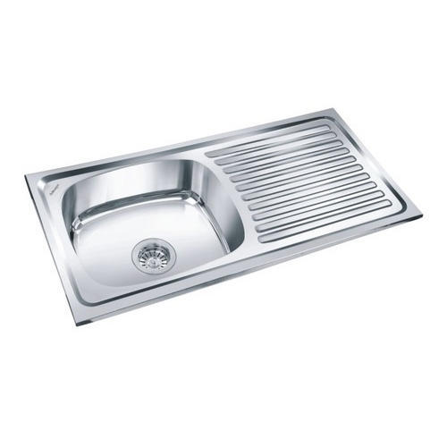 Single Bowl Sink With Drainboard स गल ब उल क चन